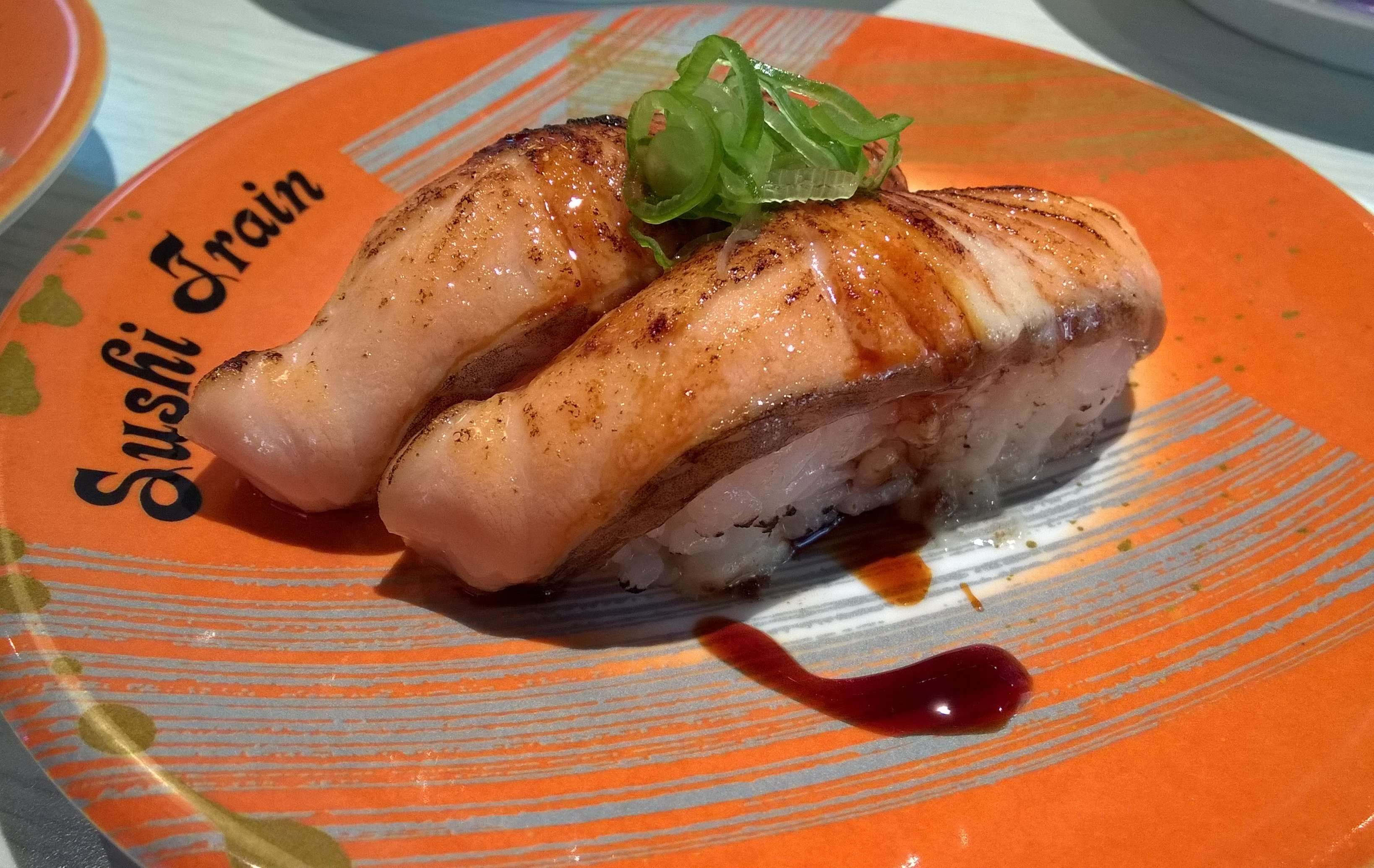Grilled Salmon Sushi Train Chancery Lane Auckland