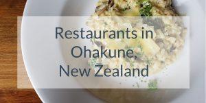 Recommended Restaurants in Ohakune