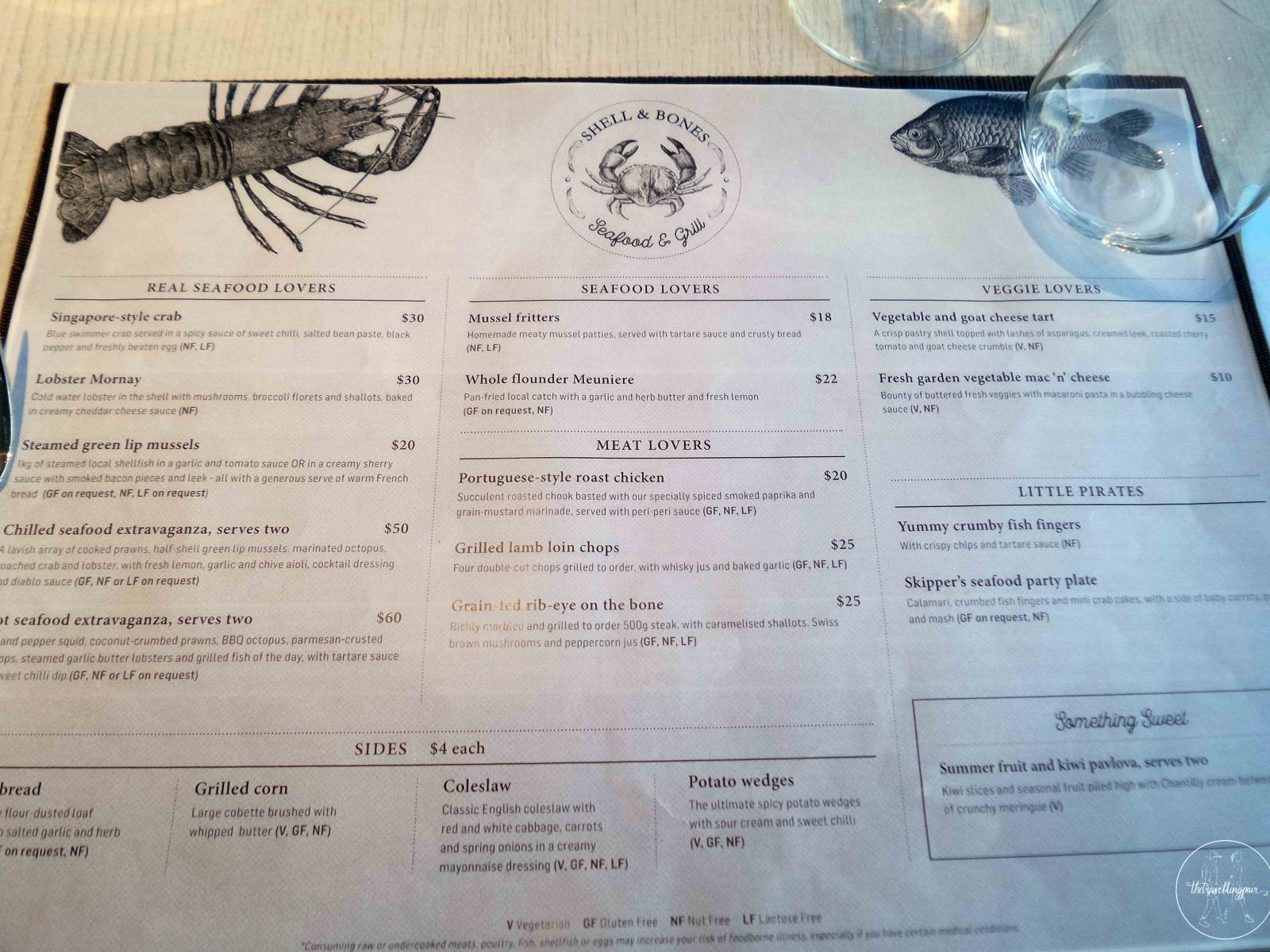 shell and bones menu