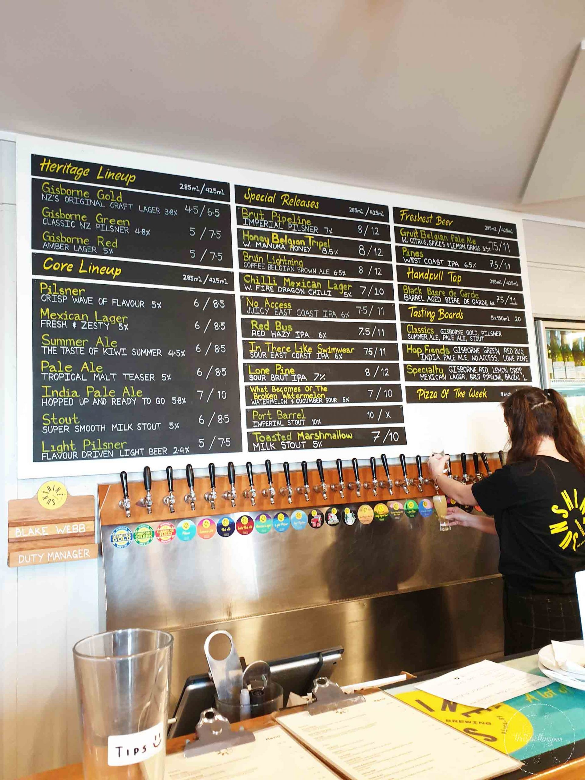 Sunshine Brewery Gisborne - Join the Travelling Pair