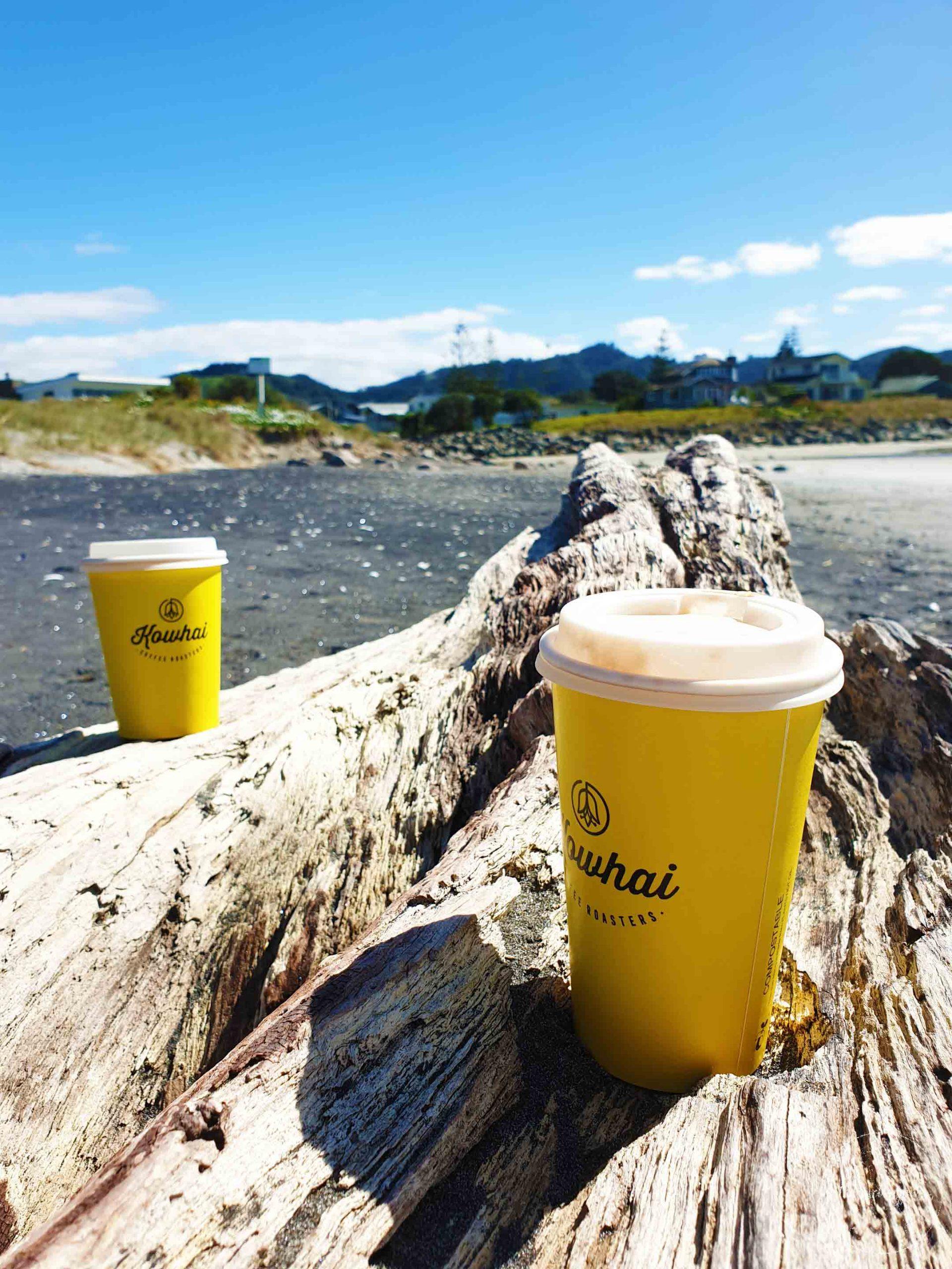 Coffee on Waihi Beach